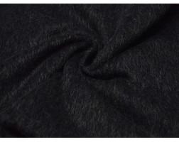 Пальтовая ткань черная с серым ворсом