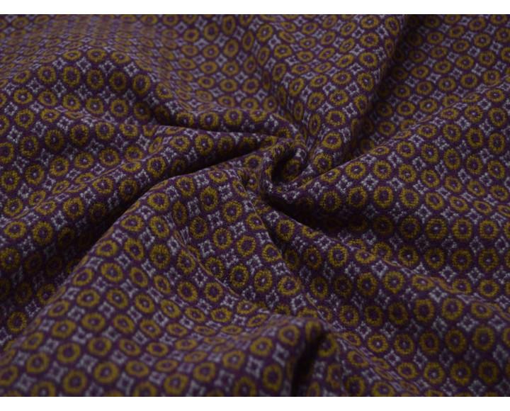 Пальтовая ткань фиолетовые круги 00057