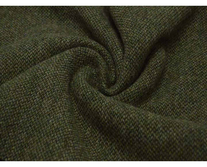 Пальтовая ткань зеленая 00048