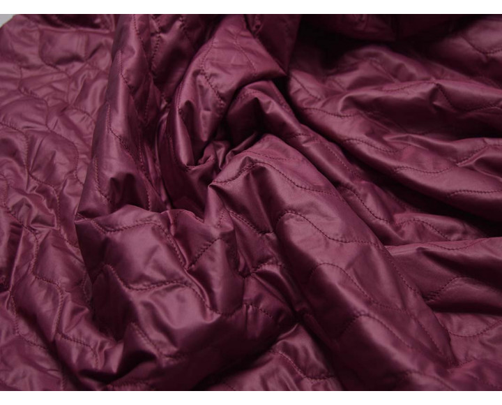 Курточная стеганая темно-розовая 00001