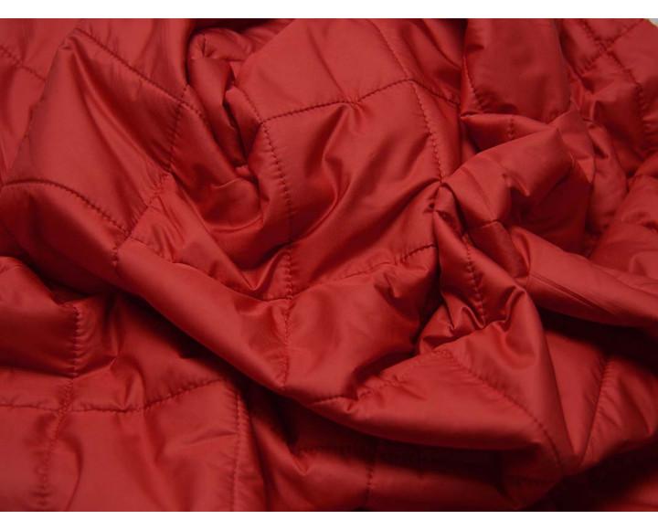 Ткань Курточная Стеганая Красная 00004