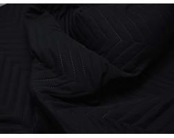 Ткань Курточная Стеганая Черная 00008