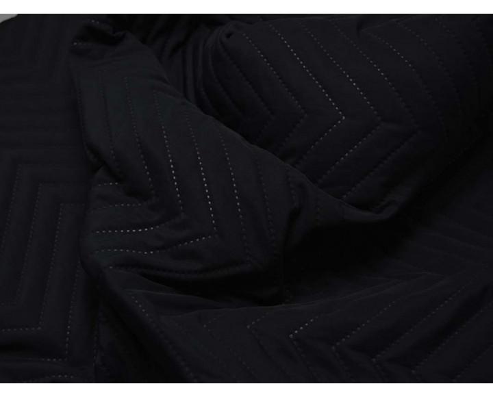 Курточная стеганая черная 00008