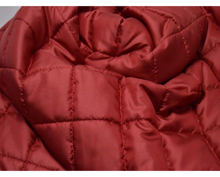 Ткань Курточная Стеганая Красная 00026