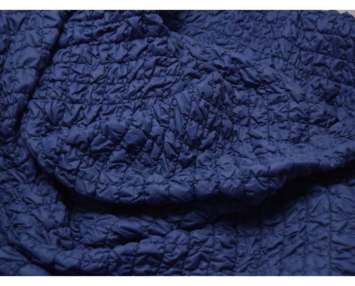 Ткань Курточная Стеганая Синяя 00013