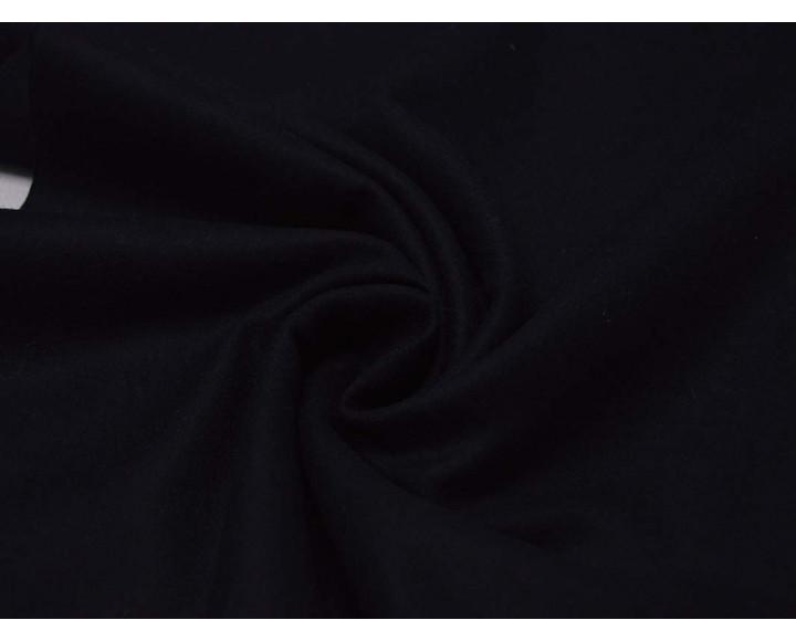 Ткань Костюмная Черная Шерстяная 00011