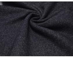 Костюмная ткань Темно-синяя В Белую Крапинку 00044