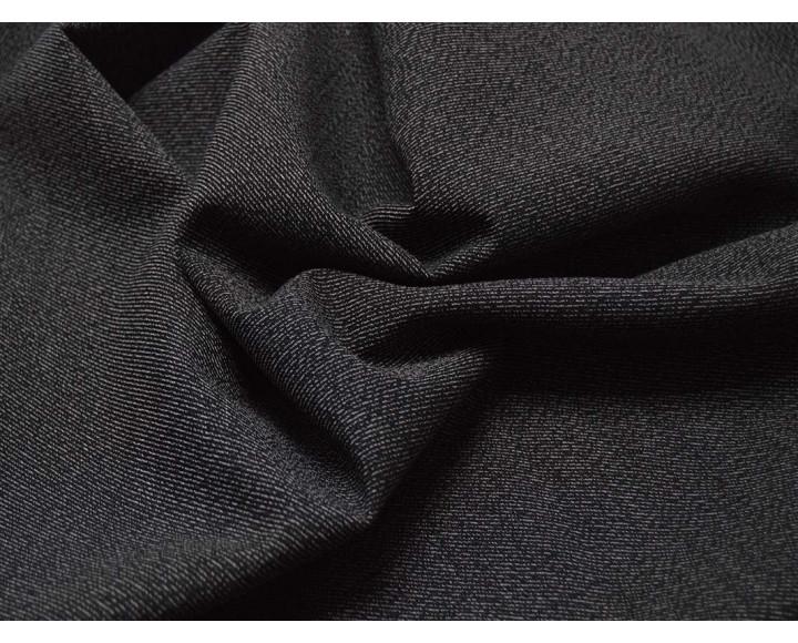 Костюмная Черно-белый Рубчик 00021