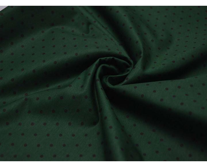 Плательная Зеленая В Черный Горох 00054