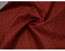 Плательная Красная В Черный Горох 00016