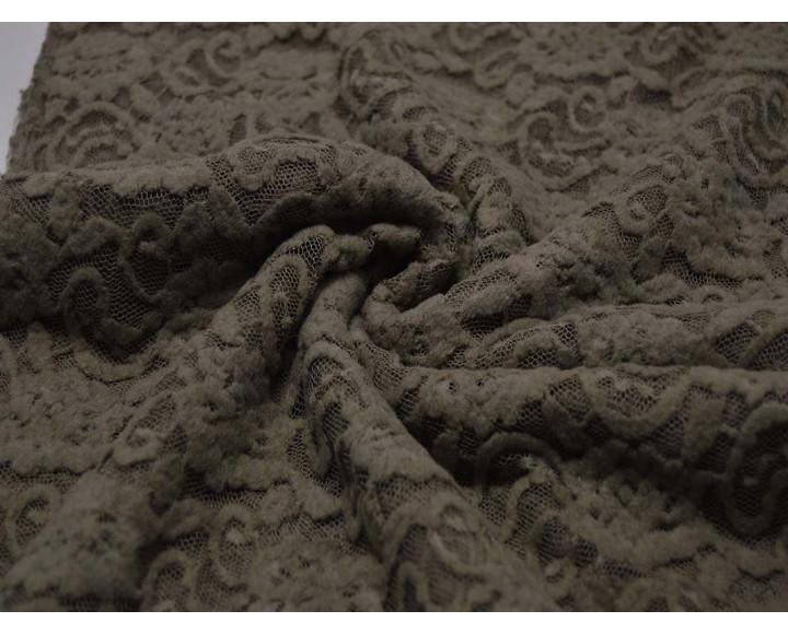 Гипюр Серо-Коричневые Цветы 00045