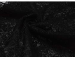 Гипюр Черные Цветы 00056