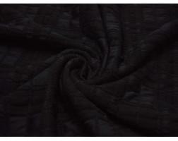 Трикотаж Черный В Клетку 00102