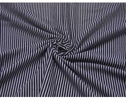 Трикотаж Темно-синий Полосатый 00022