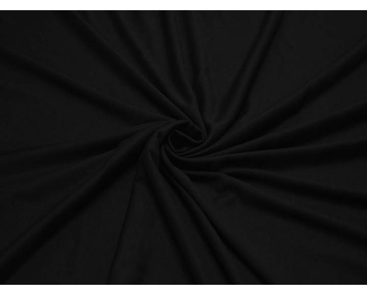 Трикотаж  Тонкий Черный 00024