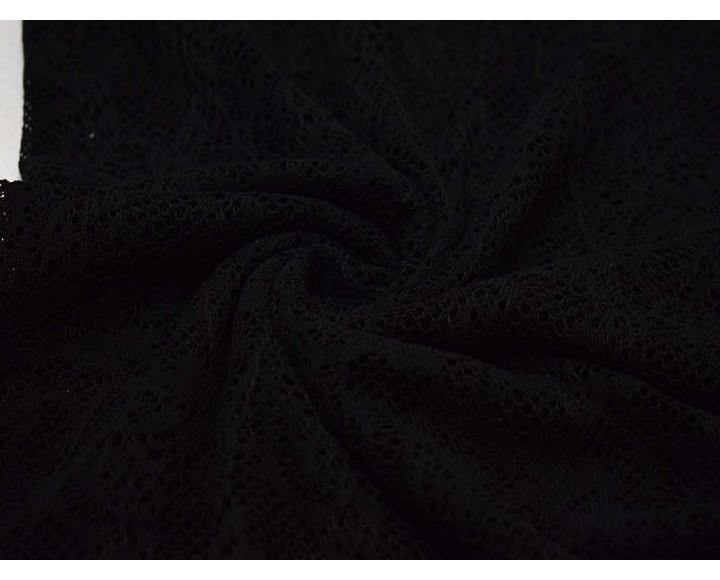 Трикотаж  Ажурный черный 00129