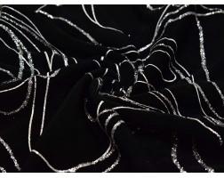 Трикотаж Черный С Серебряным Напылением 00133