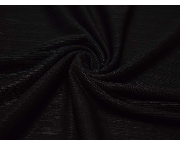 Трикотаж Черный в полоску 00137