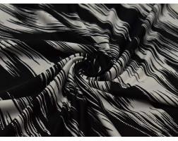 Трикотаж набивной  Черно-белый узор 00010