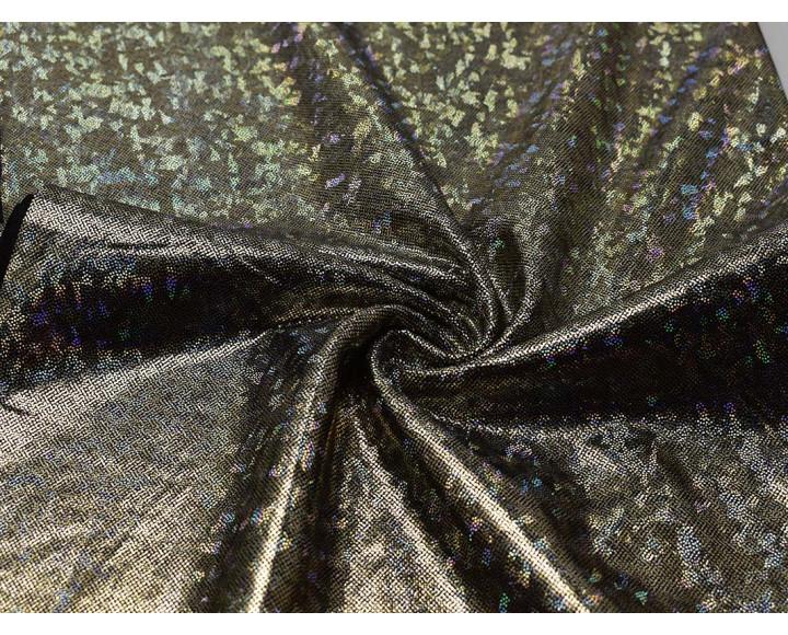 Трикотаж черный с серебристым напылением 0079