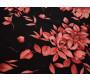 Трикотаж черный с оранжевыми цветами 00144