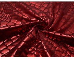 Трикотаж диско красный 0059