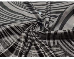 Трикотаж диско черно-белый 0106
