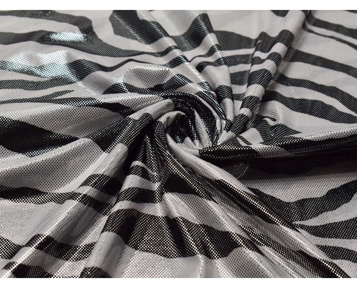 Трикотаж диско черно-белый 00037