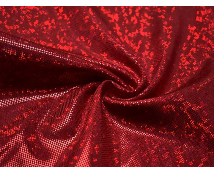 Трикотаж диско красный 0064