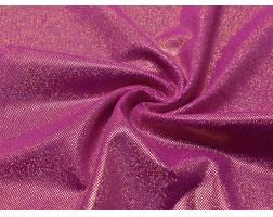 Трикотаж диско розовый с золотым 0075
