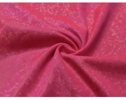 Трикотаж диско розовый с серебром 0070