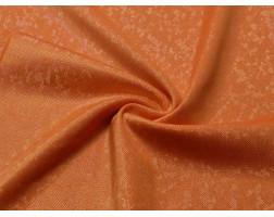 Трикотаж диско оранжевый с серебром 0071