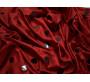 Трикотаж диско красный в черный горох 0092