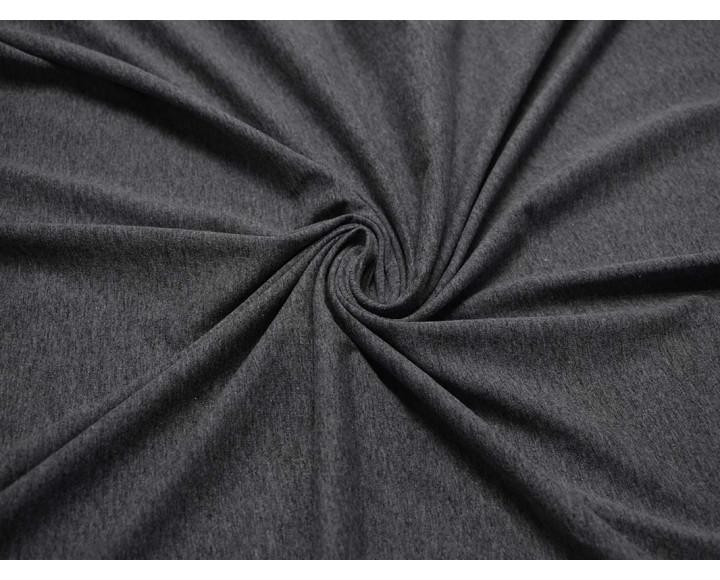 Трикотаж однотонный темно-серый 00026