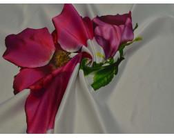Атлас с цветочным узором 00060