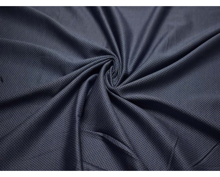 Трикотаж набивной  синие ромбики 00030