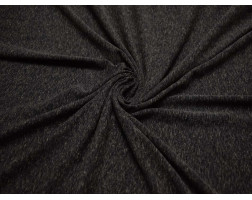 Трикотаж меланж Темно-серый с бежевым 00039