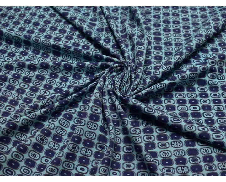 Бифлекс набивной темно-синий с голубым 00054