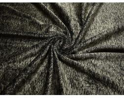 Мех Вельбоа черно-серый N7