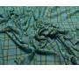 Трикотаж голубой в клетку 00028