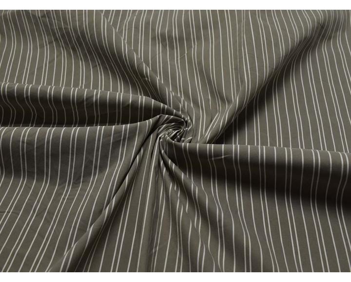 Рубашечная серая в белую полоску 00014
