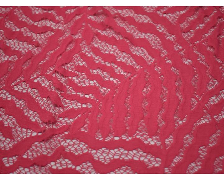 Гипюр стрейч розовый 00111