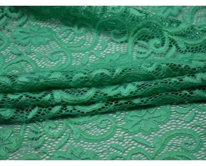 Гипюр стрейч мятно-зеленый 00112