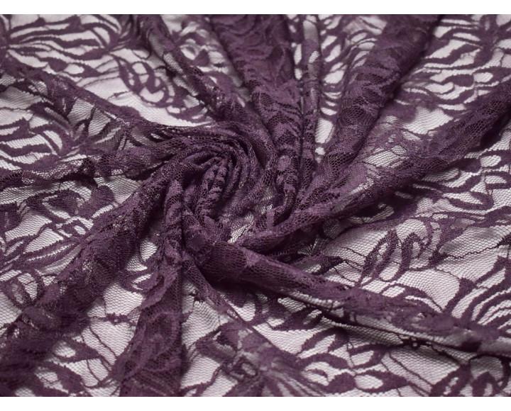 Гипюр стрейч фиолетовый 00128