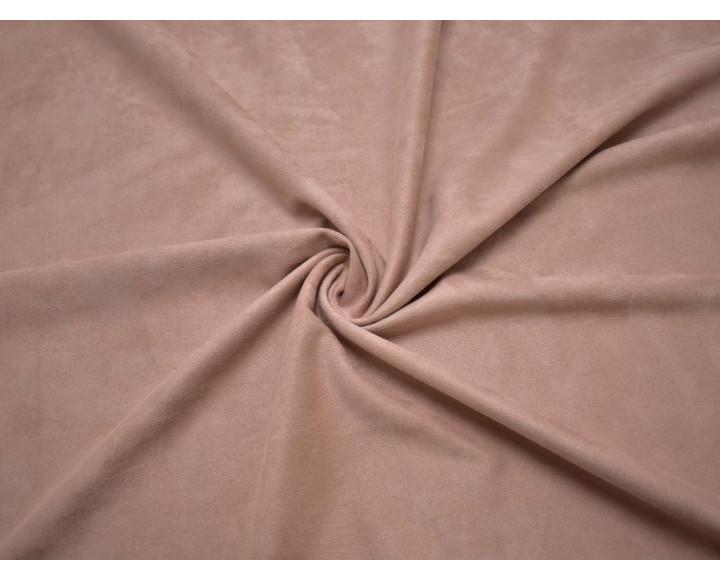 Замша искусственная бежево-розовая 00025