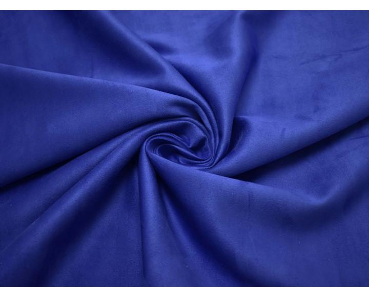 Замша искусственная ярко-синяя 00061