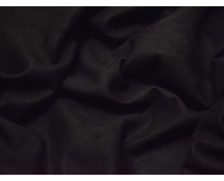Замша искусственная черная 00318