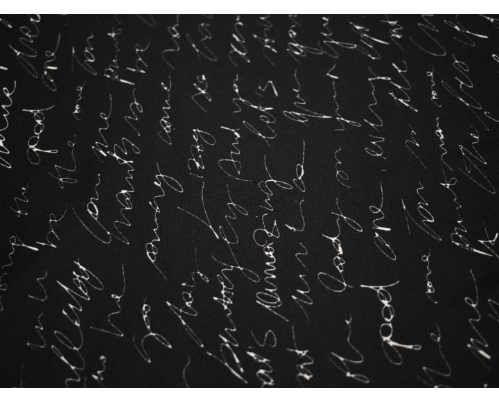 Неопрен черный с белым принтом А5б-00201