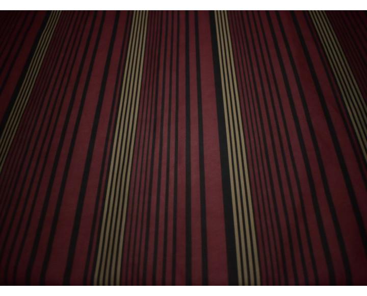 Неопрен бордовый в золотую черную полоску 00101