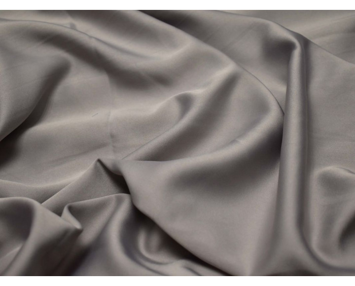 Шелк атлас светло-серый